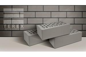 кирпич Terex серый гладкий 1,4НФ