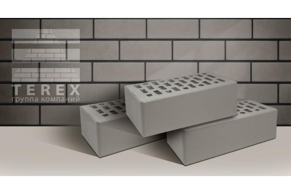 Облицовочный кирпич Terex серый гладкий 1,4НФ