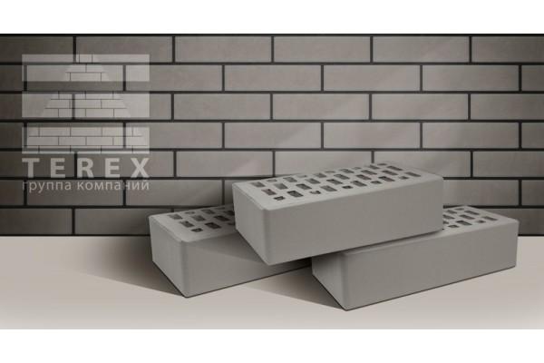 Облицовочный кирпич Terex серый гладкий 1НФ