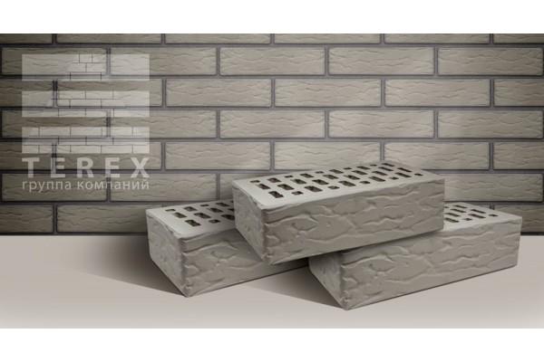 Кирпич облицовочный Terex серый рустик 1НФ