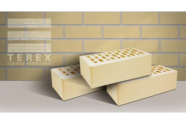 Кирпич облицовочный Terex слоновая кость гладкий 1,4НФ